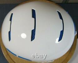 RuRoc RG1-X Full Face Snowboard Ski Helmet White/Blue Size-M/L 57-61