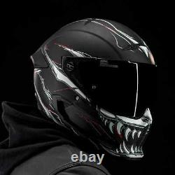 Ruroc Atlas 2.0 Motorcycle Helmet Impaler (L) with Tinted Visor and Cam Mount