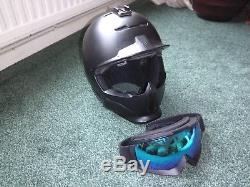 Ruroc Black RG1-X Ski/Snowboard Helmet