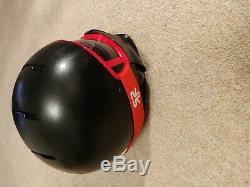 Ruroc Black/Red RG1 Ski/Snowboarding Helmet M/L