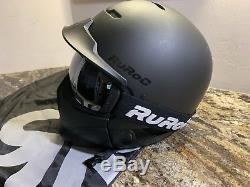 Ruroc RDX-RG1-DX Assault Ski/Snowboard Helmet (S/M) Small Black Raid System