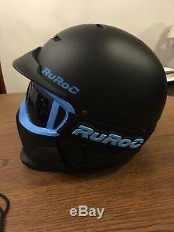 Ruroc RG-1 Helmet S Black Lambo Blue Ski Snowboard Stormtrooper