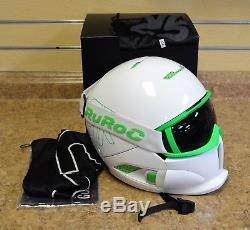 Ruroc RG-1 Viper White/Green M/L Ski Snowboard Helmet with Goggles + Box