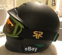 Ruroc RG1 CORE Outdoor Winter Sports Green & Black Helmet (YL/S)