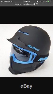 Ruroc RG1-DX BLACK ICE Ski/Snowboard Helmet, Size M/L, 2016/2017, NIB withTags