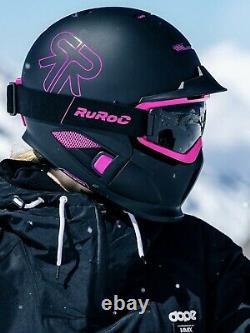 Ruroc RG1 DX Black pink Panther Helmet M/L Ski Snowboard Brand New in box
