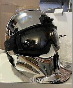 Ruroc RG1-DX Chrome Asian-fit XL/XXL with Shockpods and transition maglens