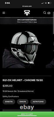 Ruroc RG1-DX Chrome XL 19/20 Used