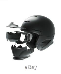 Ruroc RG1-DX Core Ski/Snowboard Helmet, Size M/L, Black Matte, 2018/19 Version