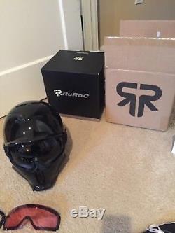 Ruroc RG1-DX Onyx XL Snowboard helmet With Extra Lenses