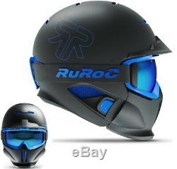 Ruroc RG1-DX Ski / Snowboard Helm Black Ice XL/XXL (61cm-64cm)