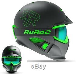 Ruroc RG1-DX Ski / Snowboard Helm Black Viper YL/S (54-56cm)