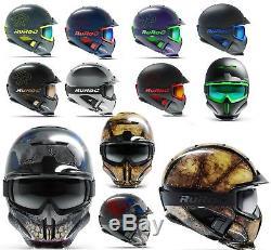 Ruroc RG1-DX Ski Snowboard Helm Chrome LTD ice reaper forge titan helmet