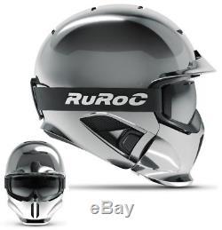 Ruroc RG1-DX Ski-/ Snowboard Helm LTD Chrome Helmet M/L (57-60cm)