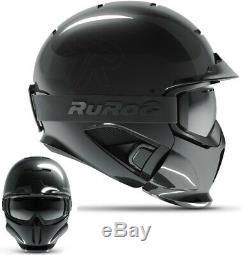 Ruroc RG1-DX Ski / Snowboard Helm Onyx Helmet M/L (57-60cm)