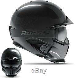 Ruroc RG1-DX Ski / Snowboard Helm Onyx Helmet XL/XXL (61cm-64cm)