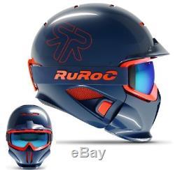 Ruroc RG1-DX Ski / Snowboard Helm Supernova Helmet Größen YL/S=54-56 Blue Orange