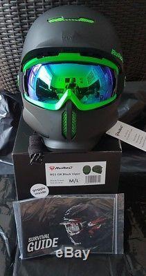 Ruroc RG1-DX Ski/Snowboard Helmet Black Viper M/L (57-60cm) RRP £280