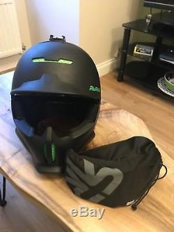 Ruroc RG1-DX Viper Black green L XL Ski Snowboard Helmet
