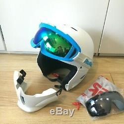 Ruroc RG1-DX ski/snowboard helmet White/Blue M/L