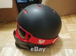 Ruroc RG1 Helmet M/L snowboard Electric Skateboard as is, chin guard is loose