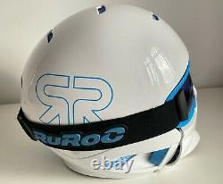 Ruroc RG1-X Mens Full Face Helmet + Goggles Ski Snowboard Snow White M/L RRP£230