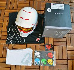 Ruroc weiß rot M/L Ski Snowboard Helm Fullface Helmet Alpin Sport Mode Style