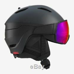SALOMON Herren Skivisierhelm, Skihelm DRIVER Black/Red Helm Salomon NEU