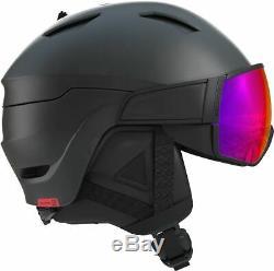 Salomon Driver 2019 Ski & Snowboard Visor Helmet Black / Red Solar Lens