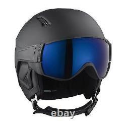 Salomon Driver S Men and Women's Black Ski Snowboard Visor Helmet, Size Medium