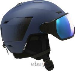 Salomon Pioneer LT Visor Ski + Snowboard Helmet Blue Universal Lens