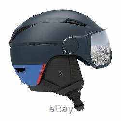 Salomon Pioneer Visor Helmet Ski Dress Blue/silver Universal All Sizes