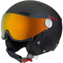 Ski Helm Bolle Backline Visor Premium Schwarz Rot inkl. 2 Visiere #1604