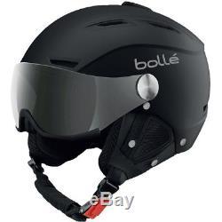 Ski Helm Bolle Skihelm Backline Visor II Photochrom Schwarz Matt #0040