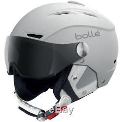 Ski Helm Bolle Skihelm Backline Visor II Photochrom Weiß Matt #1177