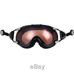 Ski Helm Casco Skibrille FX-70L Vautron Schwarz #0572 Ski Helm