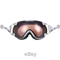 Ski Helm Casco Skibrille FX-70L Vautron Silber #3851 Ski Helm