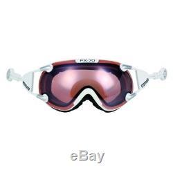 Ski Helm Casco Skibrille FX-70L Vautron Weiß #0602 Ski Helm