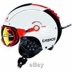 Ski Helm Casco Skihelm SP-5 II Competition weiß-schwarz-rot #8593 Ski Helm