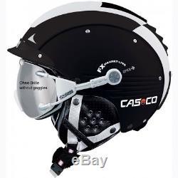Ski Helm Casco Skihelm SP-5 II Schwarz-Weiß #3191 Ski Helm