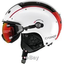 Ski Helm Casco Skihelm Sp-3.2 Competition Weiß-Rot-Schwarz #8289 Ski Helm