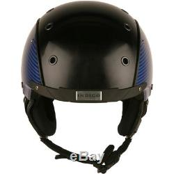 Ski Helm Indigo Ski-Radhelm Carbon Look Blau #9426 Ski Helm