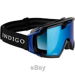 Ski Helm Indigo Skibrille Edge Limited Schwarz Blau #9846