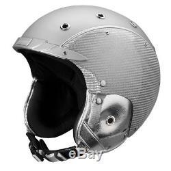 Ski Helm Indigo Skihelm Carbon Silver #1555 Ski Helm