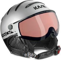 Ski Helm Kask Skihelm Class Sport 18 Photchrom Silber #0744 Ski Helm