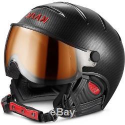 Ski Helm Kask Skihelm Elite Pro II Carbon-Black photochromatic #9752 Ski Helm