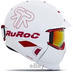 Ski Helm Ruroc RG1-DX White Inferno Weiß Rot Matt #0691