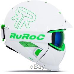 Ski Helm Ruroc RG1-DX White Viper Weiß Grün #8851