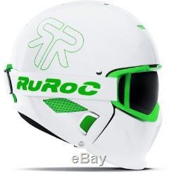 Ski Helm Ruroc Skihelm RG-1 II Viper Weiß Grün #3180 Ski Helm