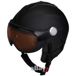 Ski Helm Skihelm mit Visier (selbst tönend) Mivida Rewind V schwarz matt #0947
